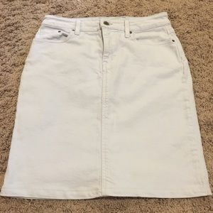 LL Bean Lightwash Denim Skirt